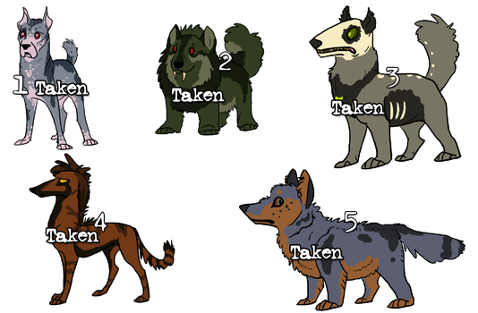 Dog Adoptables -sold out- by Songdog-StrayFang