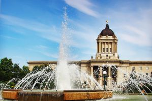 Manitoba Legislative Building and Fountain by Joe-Lynn-Design