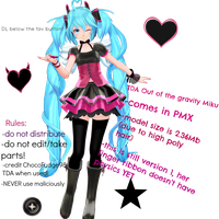 .:TDA out of the gravity Miku v1 download:. by ChocoFudge98