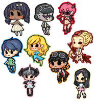 Bunch of Chibi 02 by hrivend