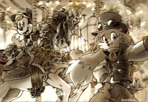 steampunk ride by twisted-wind
