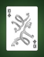 10 of clubs aka 10 of air by LineDetail