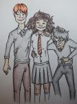 Ron Hermione and Harry by BeckettSimpleton
