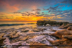 Coral-Cove-Park-Tequesta-Sunrise-from-Rocks by CaptainKimo