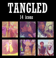 Disney's Tangled Icon-Avatar set of 14 by blueangel06661