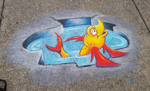 Puddle Fish ChalkFest Buffalo by charfade