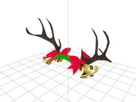 MMD Christmas Antlers Download by FrenchiestToast