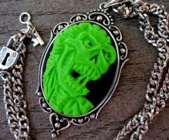 Lime Zombie Cameo by Horribell-Originals