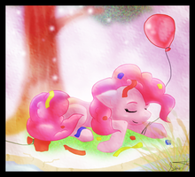 Pinkie Pie is all Partied Out by LordSameth