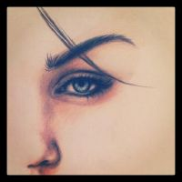 Megan Fox Eye close-up by NatiHassansin