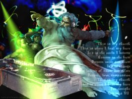 God is a DJ by pixelmancer