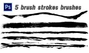 Photoshop Brush Set, Brush Strokes by designerfied