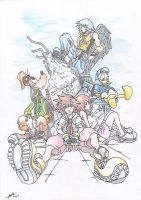 Kingdom Hearts Group by Setzer-66