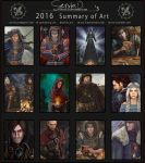 2016 Summary of Art by Servia-D