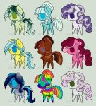 3, 5, 7 point my little pony adoptables ! by Eventide-Gypsy
