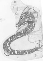 Water Serpant by Chick-with-a-pencil