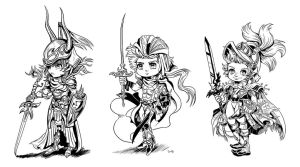 FFI-III Dissidia Warriors by RPGirl
