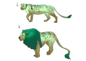 Green Lions Adoptable by Nouka
