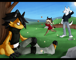 :ContestEntry: Butterfly Chasing by Night-Wolf122