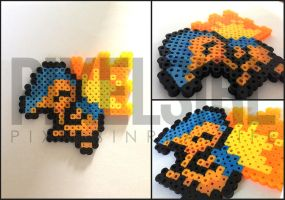 Cyndaquil Perler Bead Art - Pokemon by pixelsirl