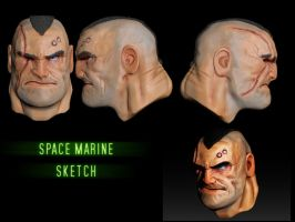 3d space marine sketch by slaine69