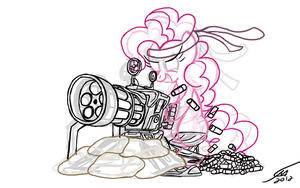 Pinkie Pie's Party gun Outline by Template93