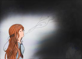 Anime girl: Side view: Breathing by ineedpractice