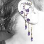 Purple ear wrap and cuff set v11 by YouniquelyChic