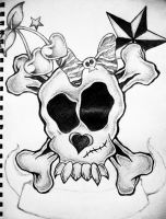 Girly Skull by xxdevotchkaxx