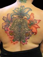 Hamsa and flowers by asussman