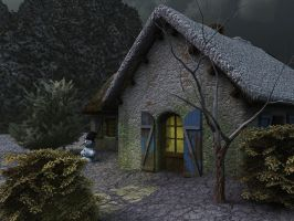 Winter Cottage by Everild-Wolfden