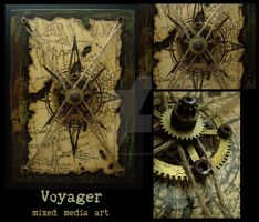 Voyager - Mixed Media Art by luthien27