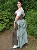 Bustle Skirt--side view by Sadict