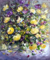Yellow Roses by zampedroni