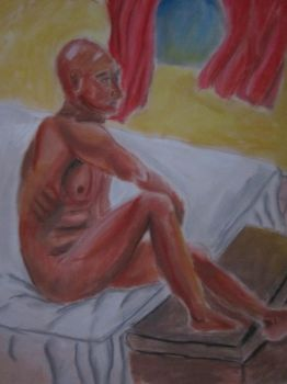 Man on bed by Aboyayo