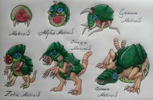 Metroid Evolutions by KarneTia