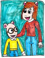 Arthur and his Mother by SonicClone