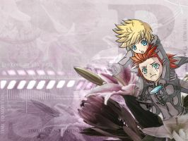Roxas/Axel Wallpaper by FreeshootXiggy