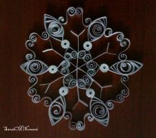 Quilled Snowflake: WIP by SarahMNomani