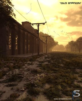 Old Station Sunset by pitposum