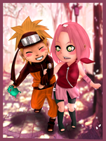 NaruSaku: Date by cheeryY