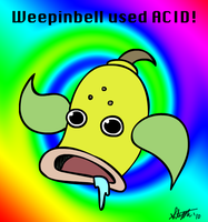 Weepinbell used acid