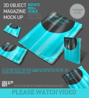 3d Object Magazine Mock Up by mucahitgayiran