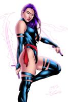 Psylocke Colors by OriginStory