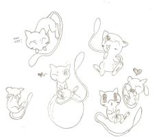 Mew Sketches by Goomy-goo