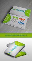 White-Green Business Card by elshenbea