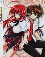 Highschool DxD Rias Gremory and Hyoudou Issei by jesualdo
