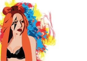Lady Gaga in Vector by cylep