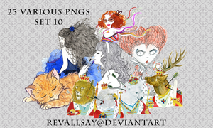 20 various pngs X by revallsay