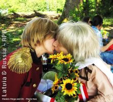 Latvia and Russia APH Cosplay by Shamallow